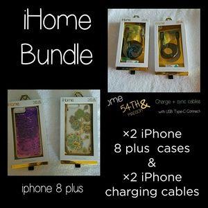 iHome iPhone 8plus Bundle ☆NEW☆